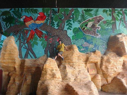 植物园手绘墙画彩绘壁画图片案例