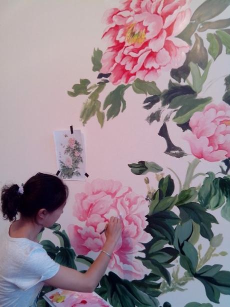 海鲜餐厅包厢手绘墙 - 天津798彩绘工作室