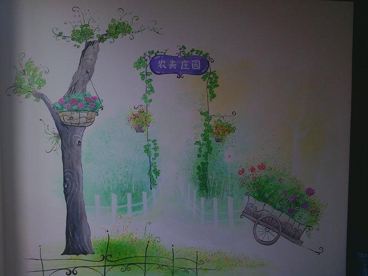 farmers village 咖啡厅位于天津开发区三街,中心酒店对过。整体装饰风格为现代田园风格。我们为客户推荐了具有清新风格的田园插画手绘墙设计方案,客户非常喜欢,认为比较符合店内的整体风格,同时也能为顾客带来身心愉悦感!